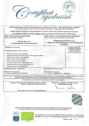 certyfikat ekologicznej zgodności