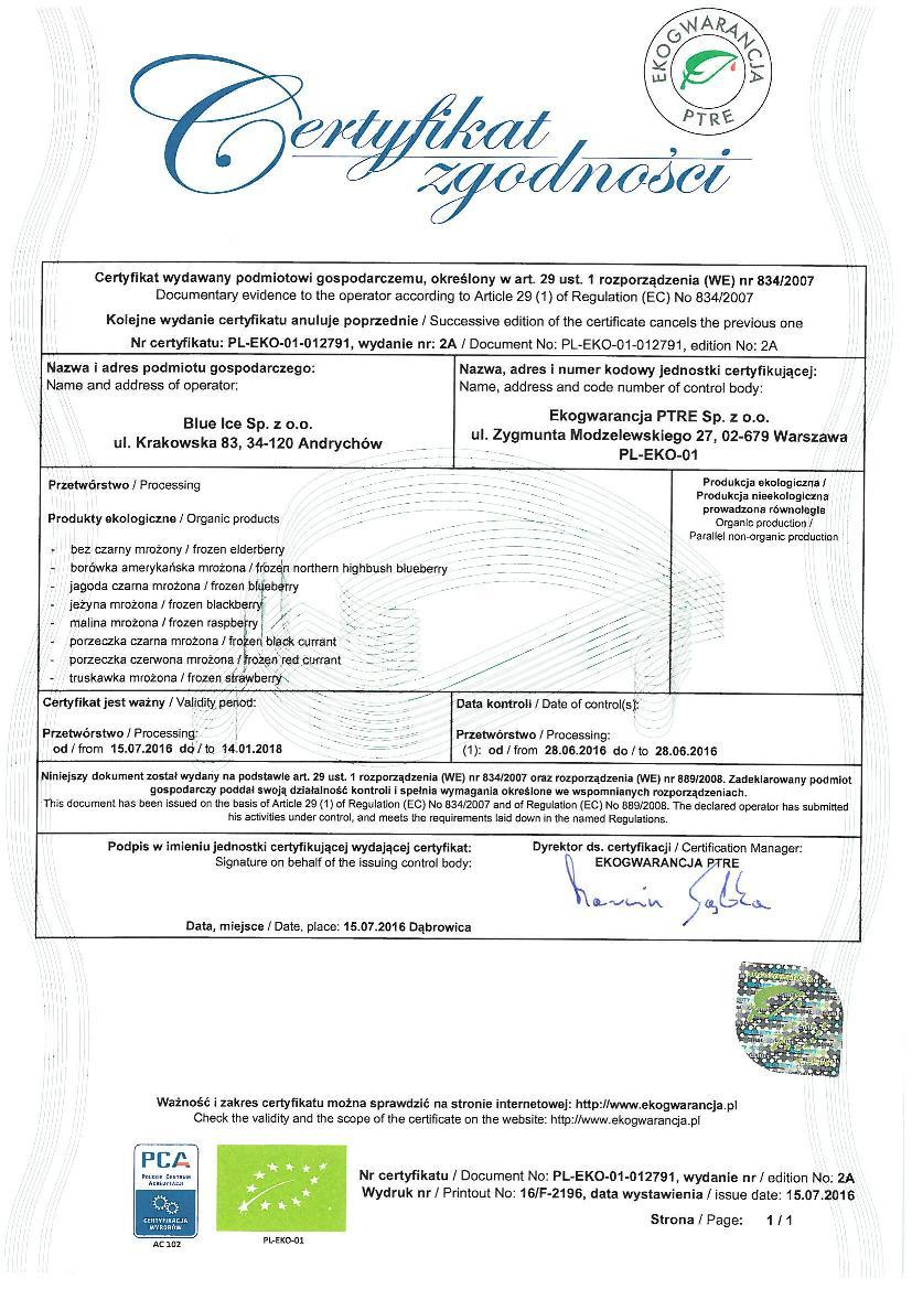 certyfikat ekogwarancja